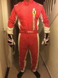 Ferrari Go Kart Race Suit