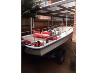 Dory 13ft 20hp 4 stroke tohatsu 2014 power trim tilt 15hrs!!