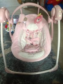 Girl pink brightstart swing