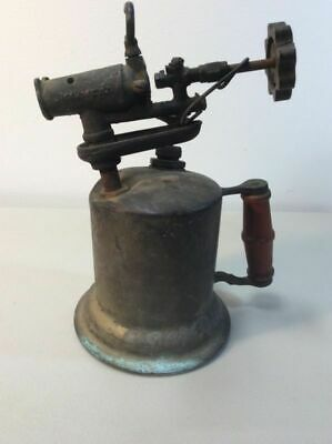 Vintage Blowtorch Blow Torch Brass For Parts Or Repair Mechanic B1