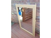 Wall mirrors 60cm X 90 cm with wooden frame