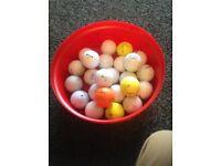 24 Used Golf Balls, Various Makes.