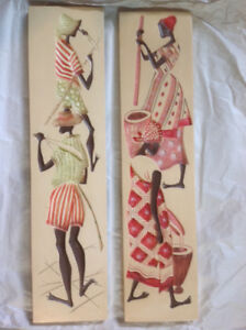 A pair of Canadian made wall plaques