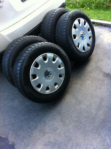 4 WINTER TIRES PIRELLI 195/65/15 on 5x100mm rims