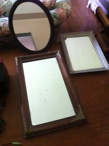 Mirrors and one tray mirror