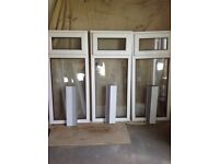 Used 3 white pvc windows clear glass new seals top openers