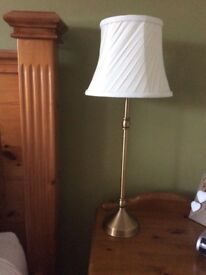Two beautiful antique brass bedside table lamps