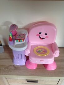 FISHER PRICE MUSICAL LAUGH & LEARN CHAIR