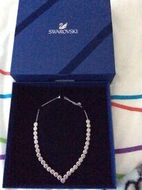 Swarovski Square Necklace in box