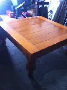 large wooded center coffee table