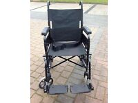 Push Along Wheelchair Solid Tyres Excellent Condition