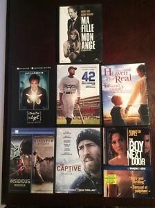 Lot de 7 DVDs (Luc Langevin, Insidieux, La captive,...)