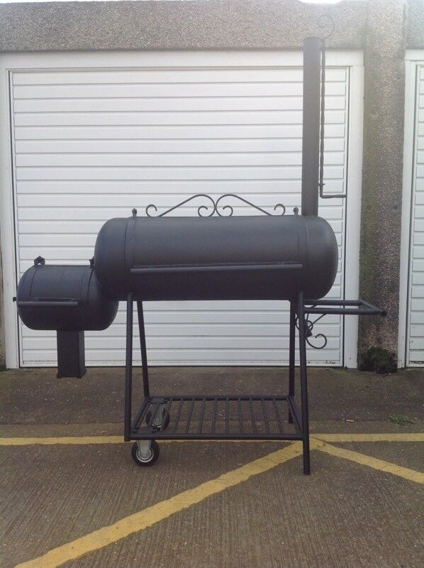 Custom made off set smoker grill