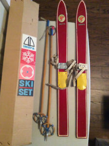 Children Antique Skis