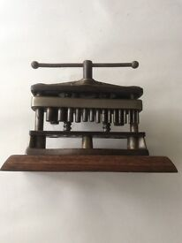 Antique dental/dentists mechanical teeth implant press.
