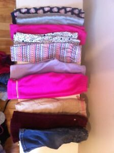 10 pairs of gently used  baby girls pants
