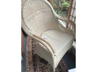 Wicker chairs; practically new. top quality. £50 the pair. Conservatory.