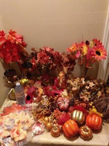Lot of Fall decor for wedding /party shower/ decor