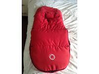 Bugaboo universal red footmuff and changing bag immaculate