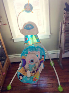 Gently used Fisher Price baby swing