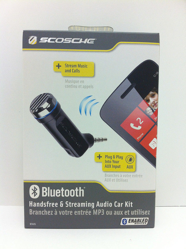 Scosche motorMOUTH II Bluetooth Handsfree Speakerphone Mic w/Streaming Audio Kit