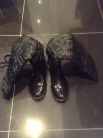 Miss sixty black Wellington boot size 5