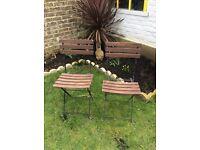 2 x compact folding Ikea garden chairs