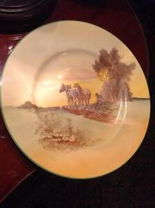 VINTAGE ROYAL DOULTON SERIES PLATE THE PLOUGHING D5650