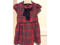 12-18 months tartan dress £5