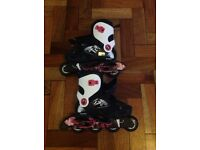 Oxelo girls skates 34-36 used twice