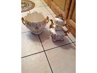 Vintage Staffordshire teapot & pot matching