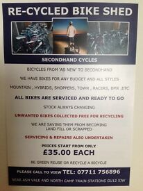 Recycled bike shed Bicycles and Motorcycles collected free of charge