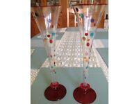 Elegant pair of decorative glasses