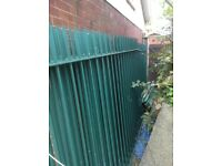 Steel galvanised and poxy coated green (will not rust)