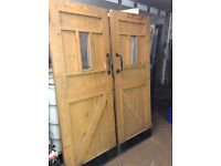 Pair of Barn Doors : 6ft 6 x 2ft 6