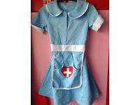 Girls Nurse dress up costume 5 - 6 years