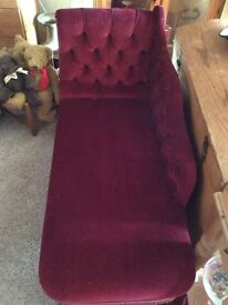 Red wine chaise lounge