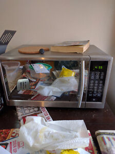 Stainless Steel Microwave, $20