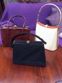 Set of 3 vintage handbags