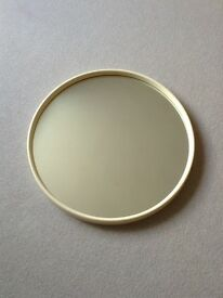 Retro Midcentury large white mirror. Vintage