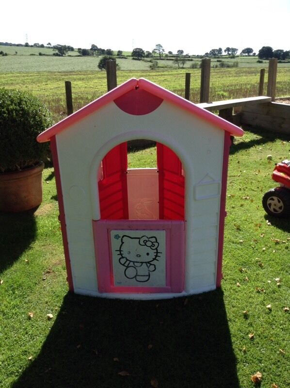 Childrens hello kitty play housein Preston, LancashireGumtree - Pink and white hello kitty play house. It has a Front door and Windows to either side. Great little play house lots of fun for your little one. £15 no offers