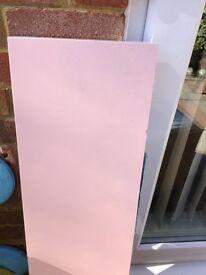 Pink floating shelf
