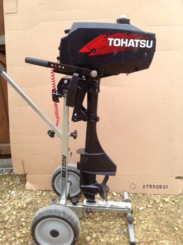 Tohatsu 3.5 hp boat outboardin Blandford Forum, DorsetGumtree - Tohatsu 3.5 hp outboard never been on a boat, never seen the sea, as new apart from a few scuffs to the hood, last of the light weight two strokes 2006, I dont think you would find a better one.£ 350 no offers
