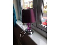 Plum table lamp