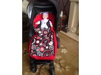 BRITAX B-AGILE FOLDING PUSHCHAIR IN VERY GOOD CONDITION FOR SALE