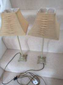 Two table lamps in excellent condition