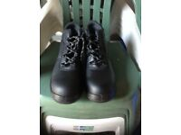 Size 10 Steel Toe Capped Black Work Boots