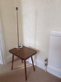 Midcentury retro table with light. PAT tested