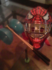 Diabolo roulements à bille + casque hockey spider man