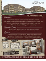 Shediac New Apartments for Rent, Air Conditioned, 2 Bedroom